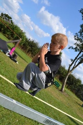 Slackline Meditation at any age..