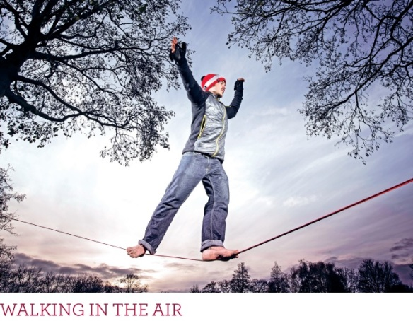 Feature all about Harry Cloudfoot and Slacklining